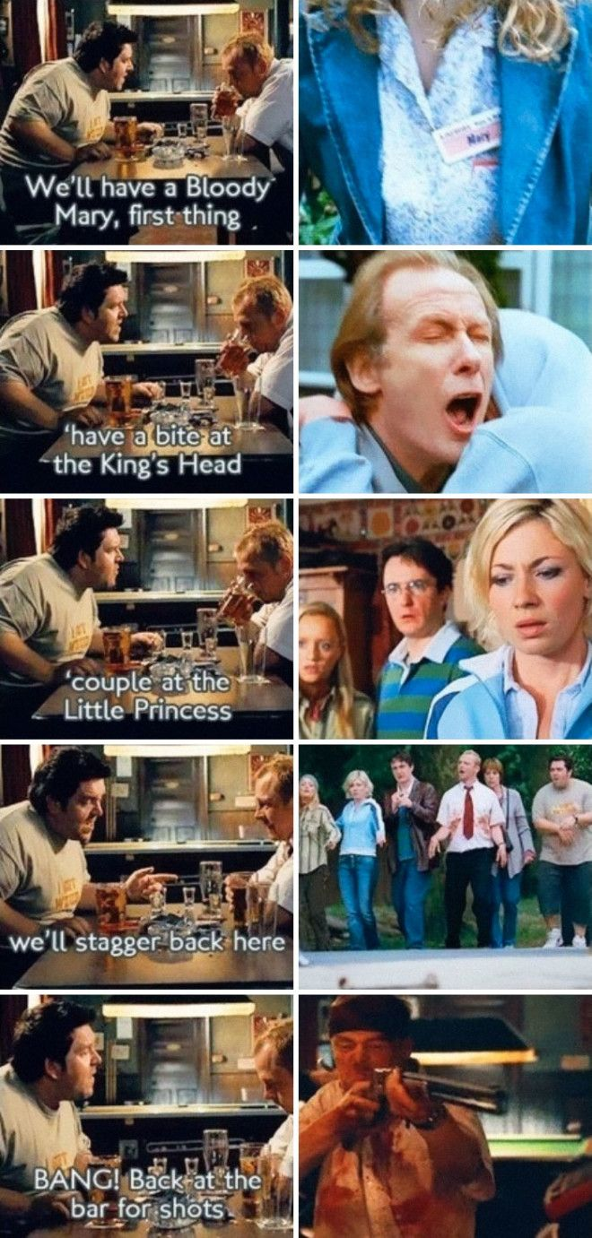 In Shaun Of The Dead The Films Key Events Are Laid Out By Ed Before The Zombies Rise