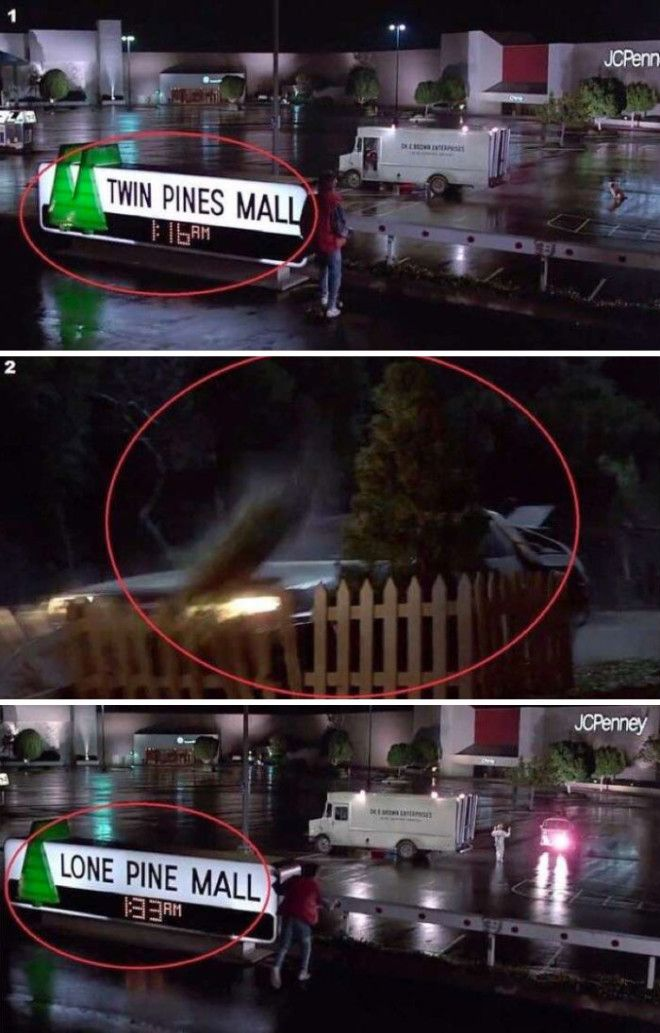 In Back To The Future The Name Of The Mall Changes When Marty Goes Into The Past And Runs Over One Of The Two Trees