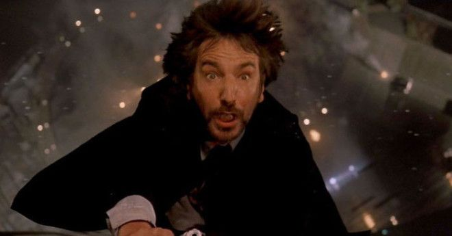 In Die Hard Alan Rickmans Petrified Expression While Falling Was Completely Genuine The Stunt Team Instructed Him That They Would Drop Him On The Count Of 3 But Instead Dropped Him At 1