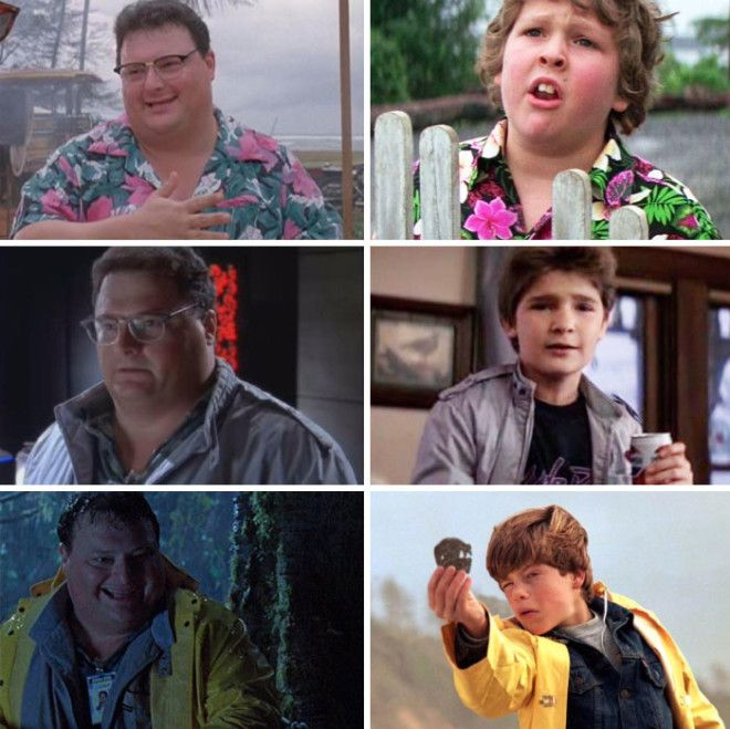 Twitter User shawnrobare Pointed Out Dennis Nedry From Jurassic Park Wearing Similar Outfits To Characters In The Goonies Kathleen Kennedy Was The Producer On Both
