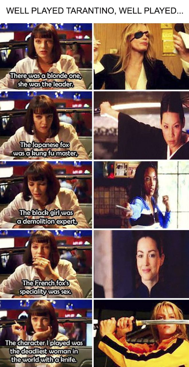Connecting Pulp Fiction And Kill Bill In One Conversation