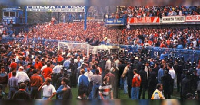 Moments before Hillsborough disaster