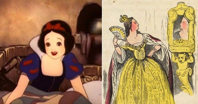 Snow White from Disney trailer and Evil Queen