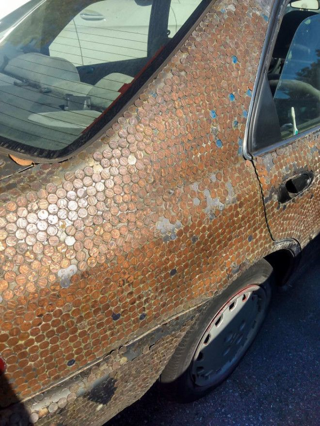 This Car Covered In Pennies