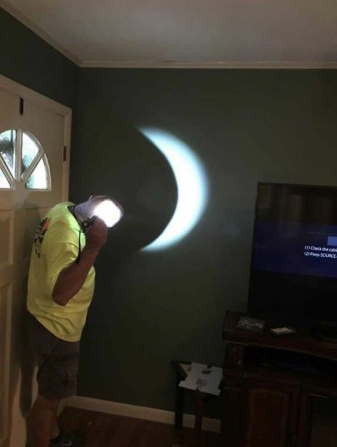 There Was A Storm During The Eclipse So He Improvised