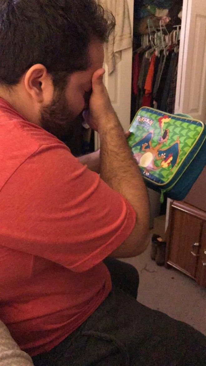 My BF Grew Up Incredibly Poor When He Was A Child He Wanted A Charizard Lunchbox He Felt If He Had It At School Hed Feel Normal Like Everyone Else I Found The Lunchbox On Ebay 18 Years Later