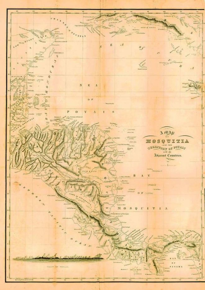Map of the imaginary Territory of Poyais