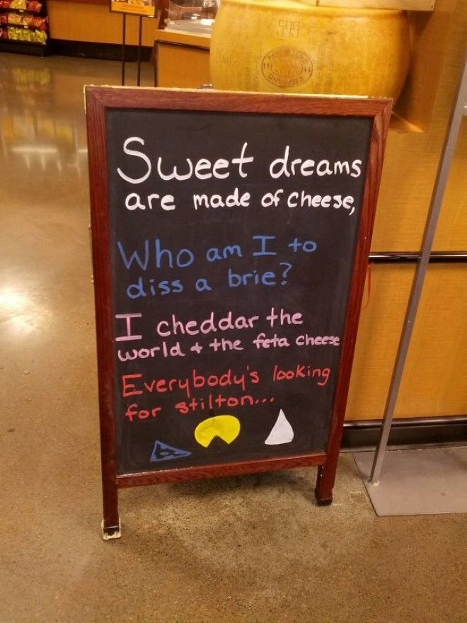 My Grocery Store Cheese Counter Has The Right Idea