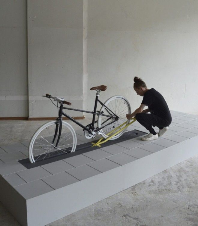 This Bike Rack Disappears Completely When Not in Use