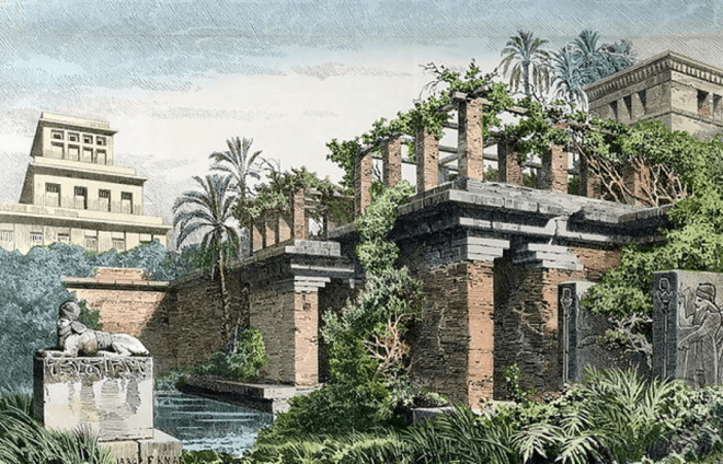 Hanging Gardens Of Babylon Painting