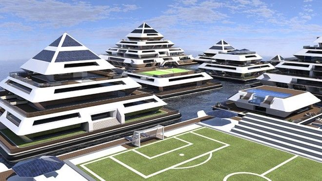 floating city of modular, eco-friendly pyramids is now enrolling citizens