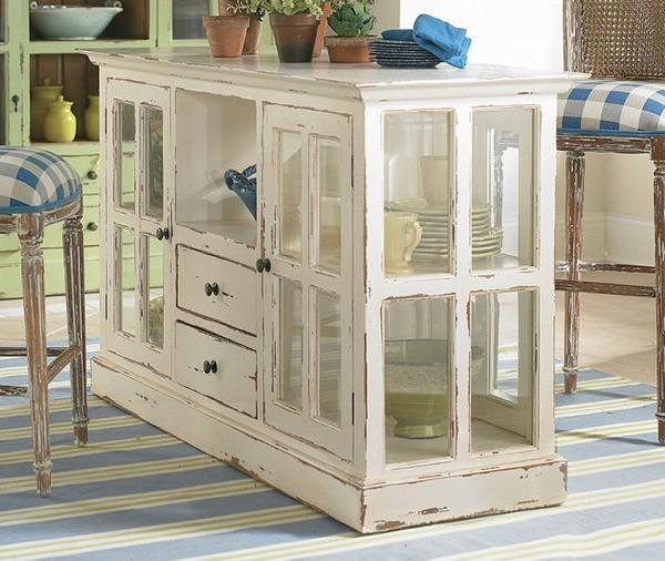 Ingenious Repurposing Unusual Kitchen Islands And Printers: 15 Fabulous Decorating Ideas Using Old Windows