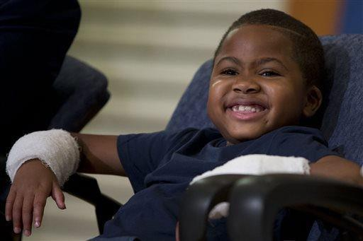 An incredible surgery has 8-year-old Zion making history