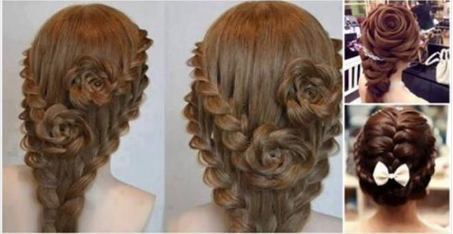 Princess hairstyle for long hair