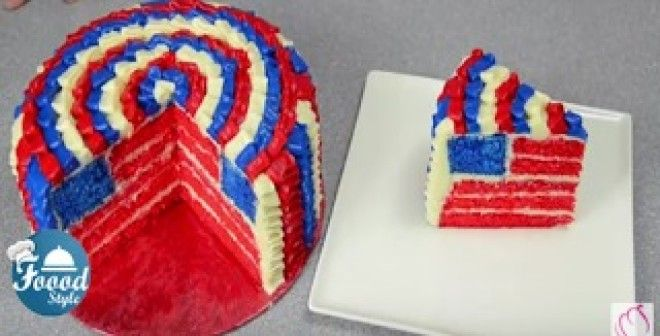 USA flag cake is sure to impress!