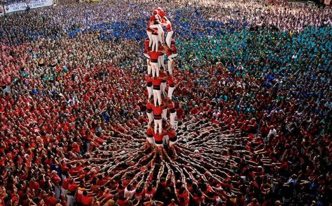 Human tower building