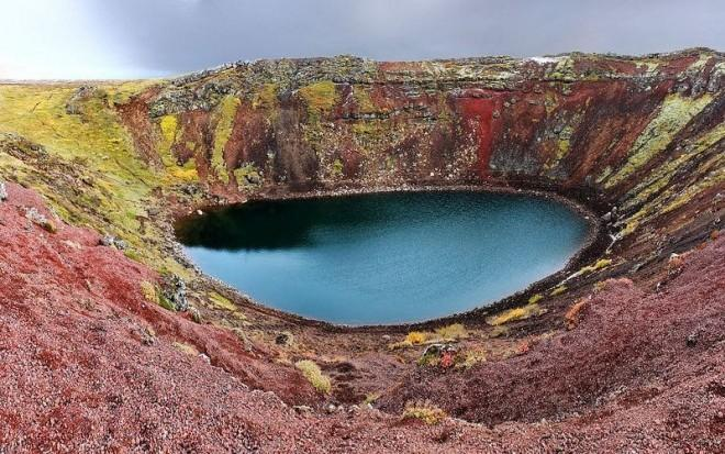 One of the most-photographer craters in Iceland