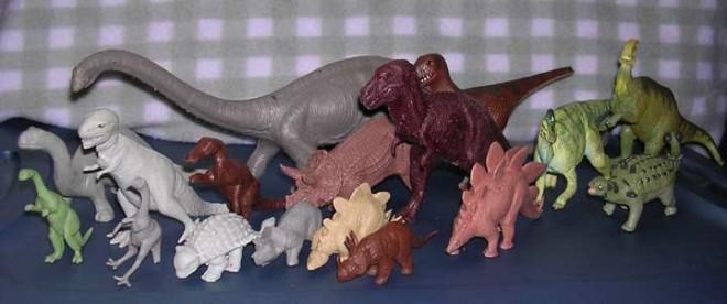 Toy dinosaurs, that is
