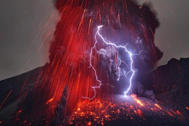 Spectacular eruption