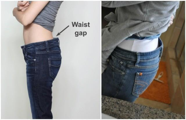 Gap at the waistline