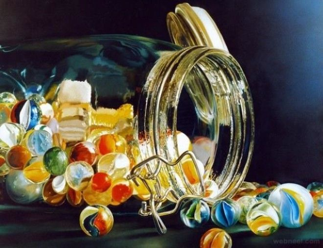 exceptional megarealistic oil paintings of trivial objects
