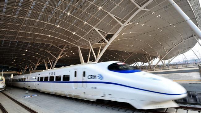 The first high-speed train in the country