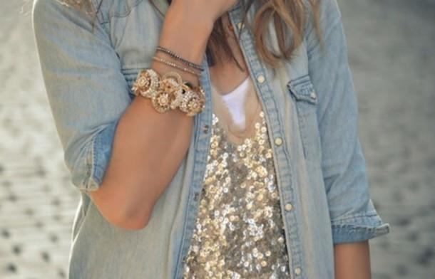 Sequin statement outfit