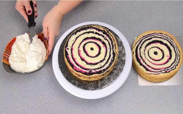This pink and black zebra cake