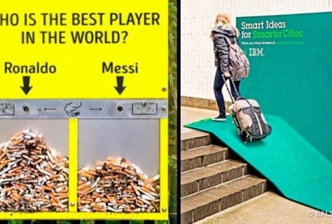 Few examples of outdoor advertising that draw clients in and offer them something useful.