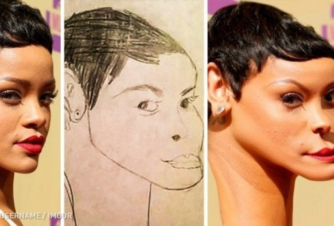 Let's see if the celebrities resemble their fans' drawings!