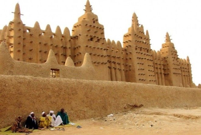 West Africa is home to a collection of incredible mud-brick mosques. The largest in Djenné dates back to the 13th century.