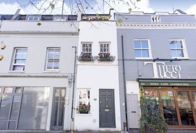 This three-story house in London is only 7 feet 7 inches wide