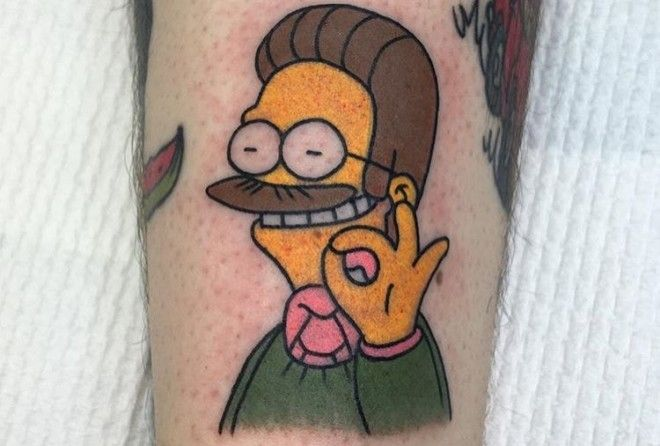 Got an idea for a clever Simpsons tattoo? It's probably been done.