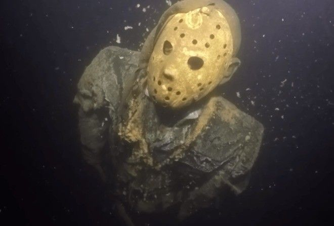 Friday the 13th's bad guy Jason Voorhees can't die but he can be chained under a lake near Crosby, Minnesota.
