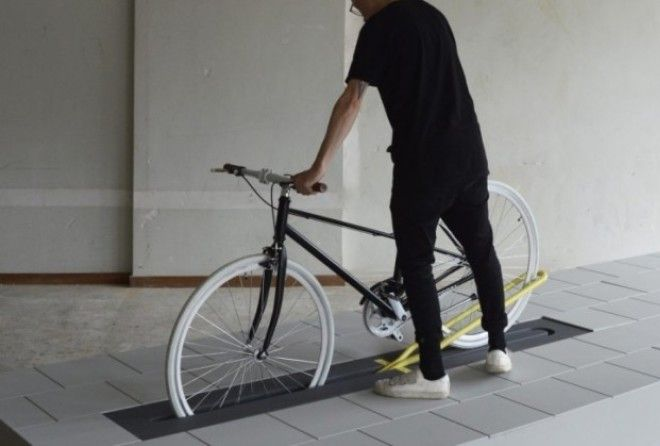 The 'Align' bike rack by Milou Bergs aims to solve the problem of infrastructure clutter.