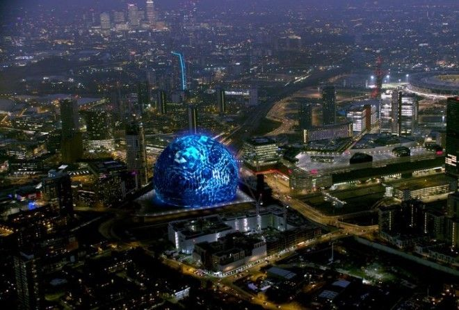 The first images of Populous' MSG Sphere venue, which is planned for a site near the Olympic Park in east London, have been released.