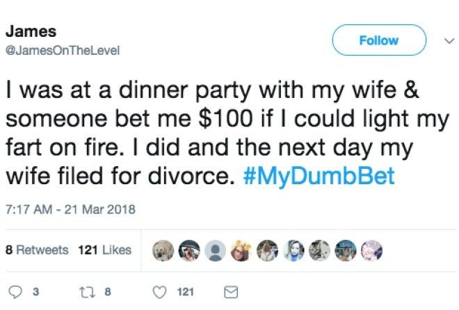 Here are 13 bets so dumb that these people will never shake hands on a bet again.